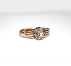 Кольцо мужское с алмазами